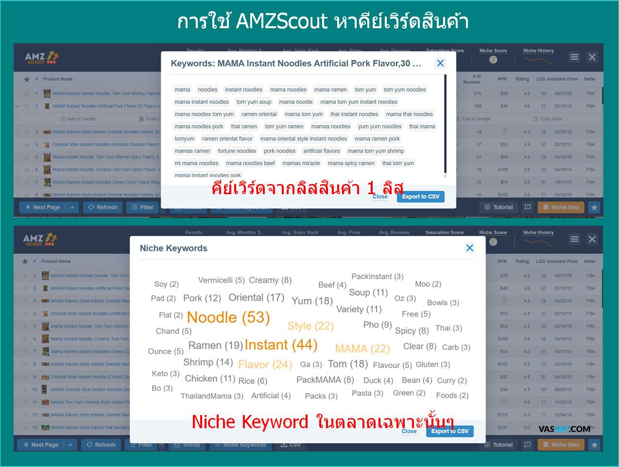 amazon คีเวิดสินค้า คีย์เวิร์ด keyword amazon search term