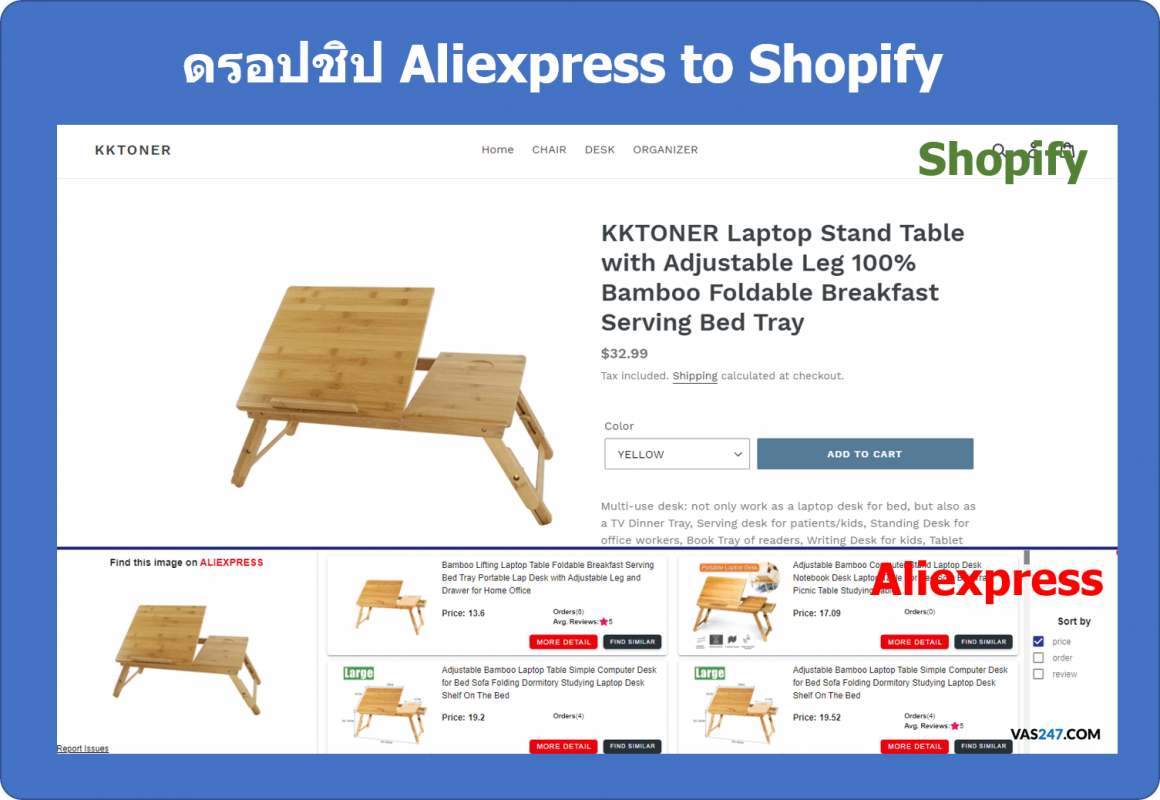 dropship จาก aliexpress ไป shopify dropshipping search product by image