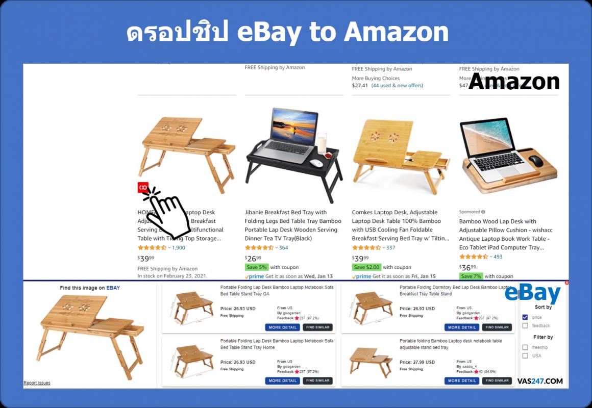 ดรอปชิป คือ dropship ทำอย่างไร dropship จาก ebay ไป amazon