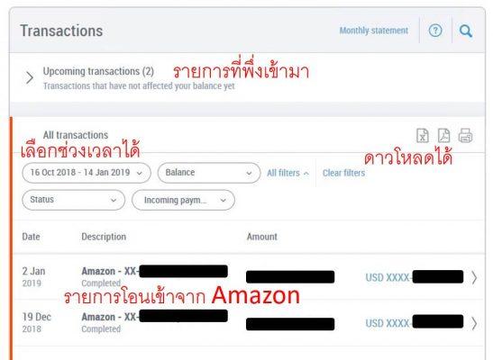 รับเงิน Amazon ผ่าน payoneer