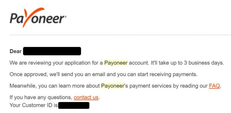 สมัคร payoneer ไม่ยาก