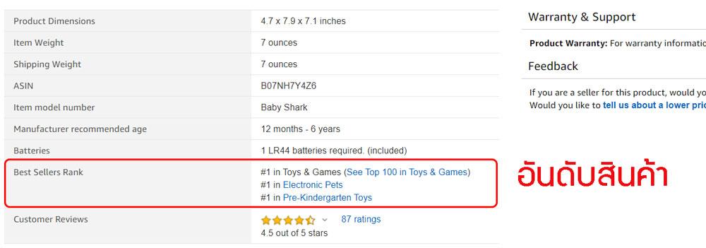 สินค้าขายดีบน Amazon best seller ทำไง