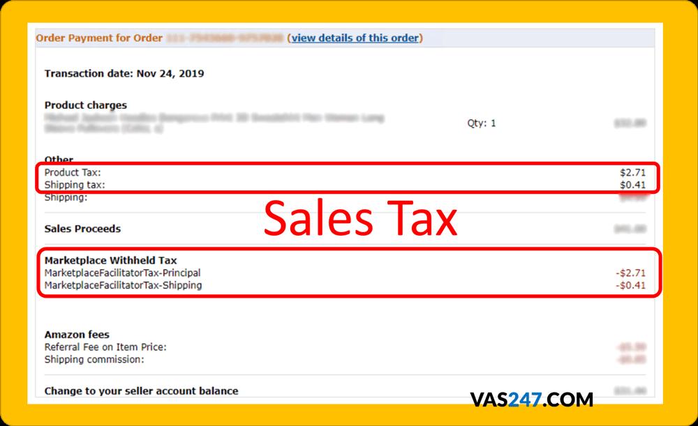 amazon sales tax จ่ายภาษี amazon